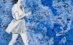 Graffiti in Berlin, 2013, Oil on canvas, 43 by Marta Penter