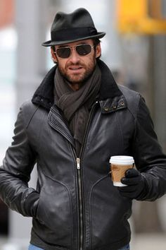 Hugh Jackman Black Jacket Celebrity Leather Jacket  Jacket Features:  Outfit type: Leather Jacket  Gender: Male  Color: Black  Front: Front Zip Closure  Collar: Double Shirt Collar  Lining: Viscose Lining  Pockets: Two pockets