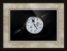 "Breguet Moonphase Triple Calendar Swiss Watch // Paper: enhanced matte; Glazing: acrylic; Moulding: black, ashland ebony; Top Mat: black/gray, rustic pewter; Middle Mat: black/gray, prato grotto; Bottom Mat: black/gray, veil // Price starts at $178 (Petite: 20.25"" x 23.25""). // Customize at http://www.imagekind.com/Breguet-Moonphase-Triple-Calendar-Swiss-Timepiece_art?IMID=60cf7cc5-000e-433f-9585-738260b6974f"