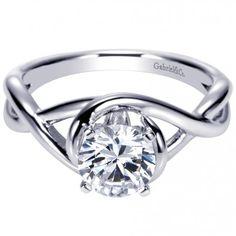 $482 w/o stone Twisted Split Shank Solitaire Engagement Ring ER9179W4JJJ