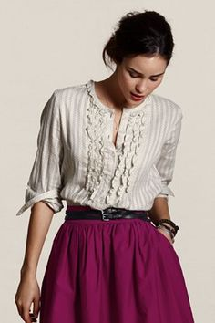 Very prairie chic - I would feel very Laura Ingalls in this outfit (always a good thing in my book).