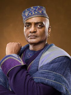 Kingsley Shacklebolt. I don't care what colors he is wearing, this cunning motherfucker had to be a Slytherin. I mean, he was a quadruple agent.