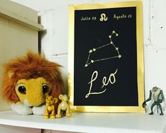 Gold constellation lion