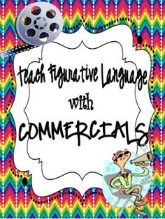 Classroom Magic: Teaching Figurative Language with Commercials FREEBIE! How fun!!