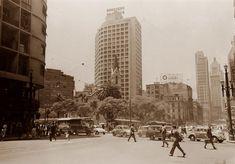 Largo do Paissandú; avenida São João e praça Antônio Prado em 1966