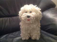 Papier Maché hond is een heel leuke surprise om met Sinterklaas te geven Puppy Valentines, Valentine Day Boxes, Valentines Diy, Diy For Kids, Crafts For Kids, Diy Presents, Mermaid Blanket, Binky, Miniature Dolls