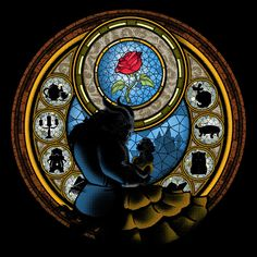 La Danza de la Rosa de Alemaglia - Camisetas Pampling.com Disney Nerd, Disney Movies, Disney Princess, Disney Stained Glass, Disney Outfits, Disney Clothes, Dark Disney, Disney Phone Wallpaper, Twisted Disney