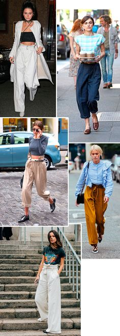 calça oversized é tendencia no street style