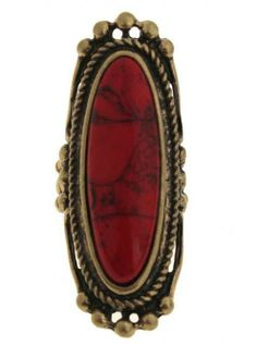 Shop Vintage Red Stone Ring at ROMWE, discover more fashion styles online. Latest Street Fashion, Summer Essentials, Jewelry Rings, Jewellery, Fashion Watches, Romwe, Vintage Shops, Style Me, Gemstone Rings