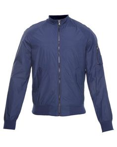 Complete your look with this Bomber Jacket byGold SK. This urban design boasts long sleeves and a zip front. Navy incolour, the sleeves and hemline offer a ribbed edge, while two flapped frontpockets and a zip pocket on the left arm complete the look. Ideal for a casual occasion, this bomber jacket is a wardrobe essential.