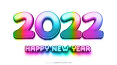 Free Colorful New Year Background 2022 Design