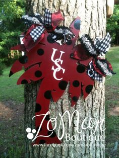 Gamecocks Door Hanger  with Ribbon by ZoMarBoutique on Etsy, $35.00