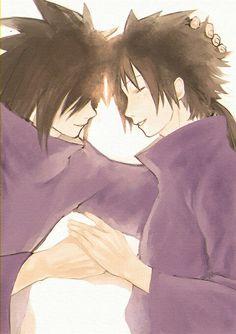 Madara  and little brother Izuna
