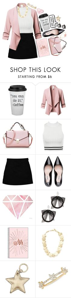 """""""Blush + White + Gold"""" by aine-says-hi ❤ liked on Polyvore featuring Boohoo, Fallon, Kenneth Jay Lane, Aspinal of London, EF Collection and The Body Shop"""