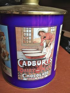Vintage Cadbury's Biscuits Tin by Tutistore on Etsy, $24.99