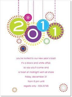 Happy New Year Bright Invitation #newyearseve #holiday #party #invitation
