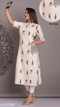 Women's kurtis online: Buy stylish long & short kurtis from top brands like BIBA, W & more. Kurti Sleeves Design, Kurta Neck Design, Sleeves Designs For Dresses, Dress Neck Designs, Stylish Dress Designs, Stylish Dresses, Stylish Kurtis Design, Kurti Back Neck Designs, Silk Kurti Designs