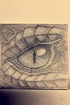 Dragon eye sketch- drawn in pencil by Rebecca Griffith