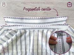 Cómo coser un cuello camisero en 8 pasos – Nocturno Design Blog Design Blog, One Clothing, Sewing Techniques, Menswear, Couture, Stitch, Fabric, Pattern, Jackets