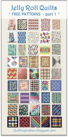 quilting ideas Quilt Inspiration: FREE PATTERN Archive - We have a huge stash of free patterns in our Free Quilt Inspiration archive and we are excited to share them with you. Jelly Roll Quilts, part 1 of 2 (Quilt Inspiration)Fantastic 20 Sewing tips are Strip Quilt Patterns, Jelly Roll Quilt Patterns, Modern Quilt Patterns, Strip Quilts, Easy Quilts, Sewing Patterns Free, Quilt Blocks, Free Pattern, Pattern Sewing