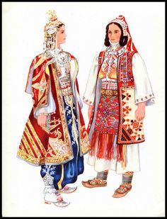 Serbia Women in Traditional Dress, Folk Costume, Vladimir Kirin