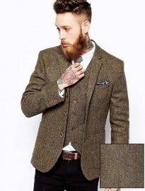 Asos Slim Fit Blazer In Harris Tweed