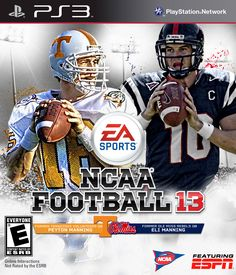 Peyton and Eli Manning - Tennessee Voltuneers and Ole Miss Rebels