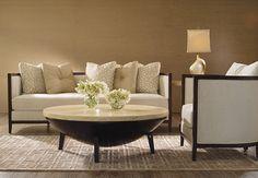 ADRIANA HOYOS Tagua Cocktail Table 660 with a special marble finish #LivingRoom   liveniu.com