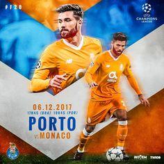 Porto vs. Monaco Sports Images, Sports Art, Flyer Design, Layout Design, Soccer Locker, Air Board, Web Sport, Sports Posters, Sports Graphic Design