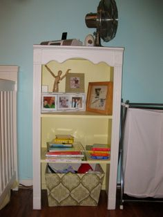 Painted Bookcase For Toy Storage.