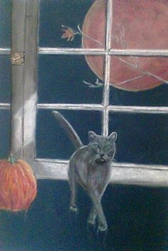 """Meet Dani Red Hawk - October's Artist of the Month - and send an eCard of her painting """"Blood Moon"""""""