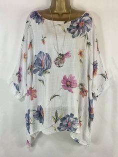 Round Neck Patchwork Floral Printed Blouses # Daily update comfy women's casual styles, big everyday Latest Fashion Clothes, Fashion Outfits, Fashion Styles, Fashion Online, Fashion Ideas, Blouse Online, Floral Shorts, Printed Blouse, Fashion Prints