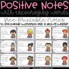 of Successful Classroom Management: Encouraging a Growth Mindset FREE! Positive Notes to Encourage Motivation and Growth Mindset by Kristine NanniniFREE! Positive Notes to Encourage Motivation and Growth Mindset by Kristine Nannini Growth Mindset Classroom, Classroom Behavior, Classroom Ideas, Behavior Cards, Behavior Incentives, Growth Mindset Posters, Classroom Posters, Preschool Classroom, Future Classroom