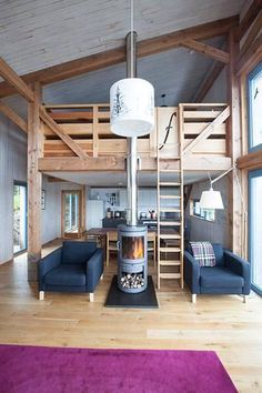 Wouldn't mind living in this big open plan room with a loft #interiordesign #homedecor #home