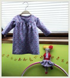 Cosas de Butterflies: Patrón Gratis Vestido Burda para niña