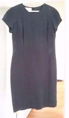 Jones New York Black Silk Dress Lined Size 10 Cap Sleeves Women's Clothing  #JonesNewYork #Cocktail