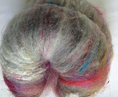 Spinning Batt OOAK  Drum Card Explosion 005 by AlmaPark on Etsy, $6.75