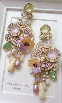 Fulfill a Wedding Tradition with Estate Bridal Jewelry Soutache Earrings, Bridal Earrings, Bridal Jewelry, Shibori, Pink Jewelry, Jewelery, Bridesmaid Accessories, Earring Trends, Pink Necklace