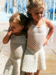 crochet girls dress or beach cover up by beijobaby on Etsy