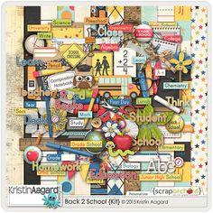 Kit: Back 2 School by Kristin Aagard Designs http://scraporchard.com/market/digital-scrapbooking-kit-back2school.html