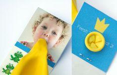 Invitación para fiesta de cumpleaños con globo incorporado