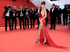 Bella Hadid in Sexy Red Dress at Cannes - Bella Hadid At Cannes Film Festival 2016 Bella Hadid, Gigi Hadid, Rihanna, Cannes Awards, Celebs, Celebrities, Cannes Film Festival, Red Carpet Fashion, Actresses