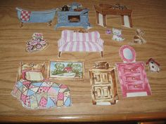Aunt Lindy's Paper Doll House Furniture Fabric Only