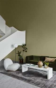 Jotun Lady just came out with their new color chart for 2020 and it makes me want to paint all the surfaces in my apartment in those subtile, yet deep tints. I'm really falling for that Local green wall color … Continue reading → Velvet Green Couch, Interior Paint, Interior Decorating, Color Interior, Bohemian Decoration, Room Colors, Colours, Jotun Lady, Green Wall Color