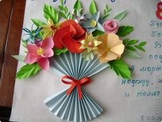 Paper Flower Bouquet Craft for Kids – Back to School Crafts – Grandcrafter – DIY Christmas Ideas ♥ Homes Decoration Ideas Easy Valentine Crafts, Easter Crafts, Diy And Crafts, Crafts For Kids, Fabric Flowers, Paper Flowers, Drawing Flowers, Back To School Crafts, Mothers Day Crafts
