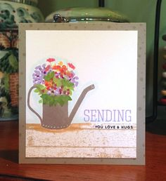 Card using WPlus9 Fresh Cut containers. Great set to use lots of ink colors that you have one hand.