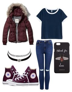 """Untitled #199"" by sandovallorena on Polyvore featuring Converse, Forever New, H&M, Abercrombie & Fitch, Gucci and Charlotte Russe"