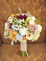 Like this bouquet overall, instead of red maybe orange...