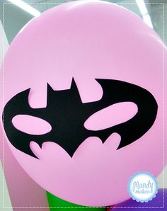 Superhero (in the form of a balloon) with a mask. Pink can be replace by Primary Colors