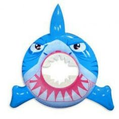 Use this inflatable shark swim ring to hang on the pool gate as guests arrive or get two of them for some fun pool races. Pool Party Games, Pool Party Kids, Kid Pool, Party Fun, Party Ideas, Shark Pool, Swimming Pool Games, Shark Swimming, Inflatable Pool Toys